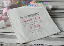 Personalised wedding sweet bags candy cart favour bags sweet thank you