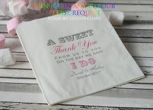 Personalised wedding sweet bags candy cart favour bags a sweet thank you
