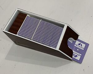 Skycity Auckland Casino Retired Card Shoe / 4 Complete Decks Of Retired Cards