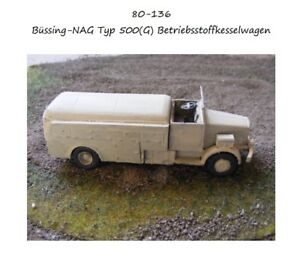 MGM 080-136 1/72 Resin WWII German Büssing-NAG Type 500 (G) Fuel Truck