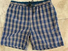 BBB Basic System Bermuda Shorts Men's Size 38-40 Plaid Flat Front Casual Cotton