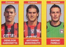 545 GABIONETTA - BONVISSUTO - FARELLI FC.CROTONE STICKER CALCIATORI 2010 PANINI