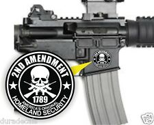 (3) AR15 Lower Decals | 2nd Amendment Stickers | Homeland Security 5.56 .223 MAG
