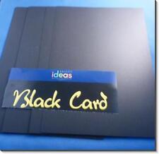 A4 LOOSE BLACK  CARD 225gsm  -10 SHEETS (Half Price)