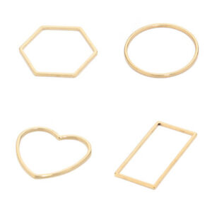 30X Raw Brass Geometric Hoop Earrings Charm Circle Ring Round Connectors Jewelry