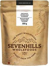 Spiruline Bio Sevenhills Wholefoods  100% pur en poudre 500g Vegan Complément .