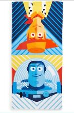 TOY STORY Beach Towel NeW 58x28 Velour Terry Cloth Bath Towel Woody Buzz Disney
