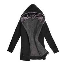 Women's Hooded Thicken Fur Lining Zipper Coat Warm Outerwear Winter Jacket Parka