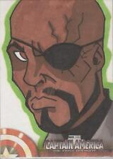 """Captain America The First Avenger Movie - Unknown Artist """"Nick Fury"""" Sketch Card"""