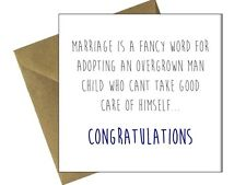 ENGAGEMENT WEDDING CARDS OCCASION Comedy Funny Humour Cheeky Congratulations /GB