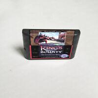 King's Bounty (1991) 16 Bit Only Game Card Sega Genesis Mega Drive System