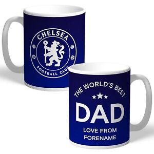 Personalised Chelsea FC World's Best Dad Mug Football Club Birthday Gift Fan