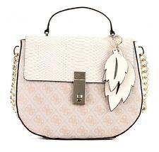 GUESS Cross Body Bag Top Handle Flap Stone