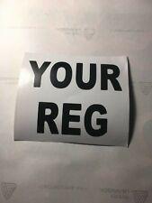 Trials Bike Rear Number Plate. Vinyl Cut Letters / Numbers. Customised. SSDT.