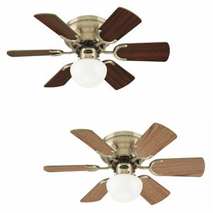 """Westinghouse ceiling fan light Petite antique brass with pull cord 76 cm / 30"""""""