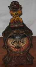 Antique Original Cast Iron Cat & Mouse Mechanical Bank w/ original paint