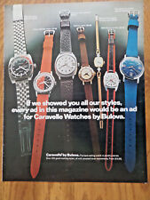 1972 Caravelle by Bulova Watches Ad Shows 7 Watches