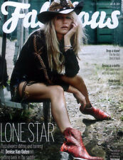 FABULOUS MAGAZINE 20 JULY 2014 . DENISE VAN OUTEN FRONT COVER & 4 PAGE FEATURE