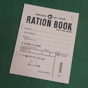 1943 WW2 Adult Food Ration Book Reproduction