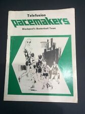 OLD BLACKPOOL BASKETBALL PROGRAMME TELEFUSION PACEMAKERS V HEMEL HEMPSTEAD 1978