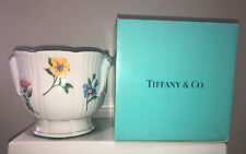 "Tiffany & Co. Vintage Sintra Floral Flower Cache Pot Planter 7"" Tall 8"" Diameter"