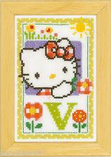 Vervaco  0149595  Point de Croix Compté Alphabet © Hello Kitty - Lettre V