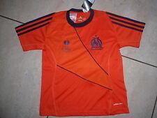 NUOVA ADIDAS MAGLIA Olympique Marseille dimensioni 152 Arancione/NERE wunschflock possibile