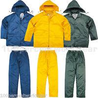 Delta Plus Panoply EN400 Work PVC Waterproof Rain Suit Jacket and Trousers Kit