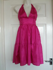 w Womens Size 12 Pink Dress LADIES SUMMER COCKTAIL WORK SMART EVENING FORMAL