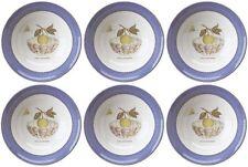"""Wedgwood Sarahs giardino (Blu) 6 ciotole per cereali 17cm/6.5"""" - nuovo/inutilizzato (Sarah'S)"""