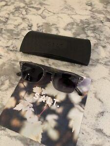 Salt Optics Fuller Sunglasses matte asphalt grey frame polarized lenses
