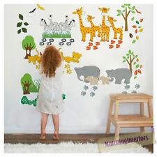 Enfants animaux savane safari wall stickers stickers Pépinière Chambre Enfants