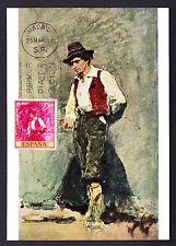"Spain Espana Spanish 1968 Postcard FDI Fortuny Painting ""Typical Calabrian"" Art"