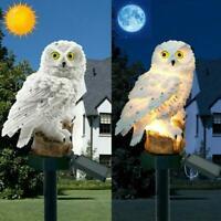 Solar Garden Lights Owl Ornament Animal Bird Outdoor LED Decor Sculpture Super