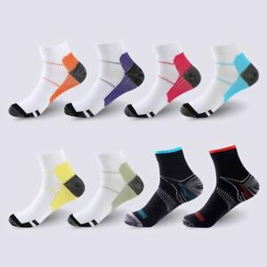 5 Pair Compression Socks Arch Ankle Running Support Mens Women Plantar Fasciitis