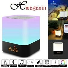 LED Bluetooth Speaker Touch Night Light Music Smart Desk Lamp Alarm Clock Player