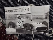 MOTORSPORT POSTCARD - STIRLING MOSS MERCEDES BENZ W196 AINTREE 1955