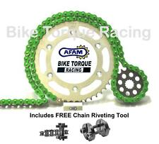 Honda CBR900 RR Fireblade 96-99 AFAM Green Chain & Sprocket Kit + Rivet Tool