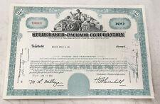 Studebaker - Packard Corporation 100 Share Stock Certificate 1961