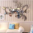 3D Flower Beautiful Acrylic Mirror Wall Decal Stickers Art Home Room Vinyl Decor