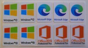 x10  Window 1 0  Sticker Office Edge Badge Label Logo Decal Laptop PC HD Quality