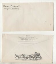 Illustrated Envelope  For Hotel Frontier, Cheyenne, Wyoming