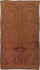 Caucasian Karabagh Red, Orange and Brown Handwoven Wool Carpet BB5658