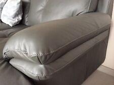 Couch in L-Form, Leder, grau, Super Zustand