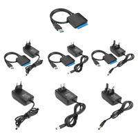 USB 3.0 To SATA Convert Cable for 2.5/3.5 inch SSD HDD Hard Drive Adapter #J