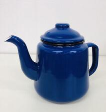 FALCON Blue ENAMEL TEA POT WITH HANDLE & LID TEAPOT - CAMPING