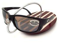 NEW Costa Del Mar ZANE Black & 580 Silver Mirror Glass 580G