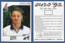 ENGLAND RECUPERO N.104 BATTY FIGURINA CALCIATORI PANINI EURO 92