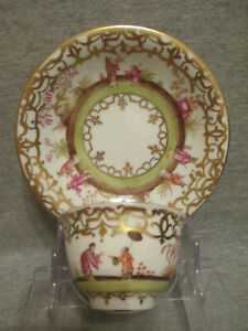 Meissen / Dresden Porcelain Chinoiserie Tea Bowl & Saucer. (No 2)