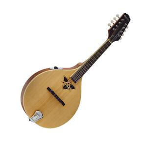 Electro Acoustic Mandolin Celtic Knot Sound hole Satin Finish 2240E by Ozark